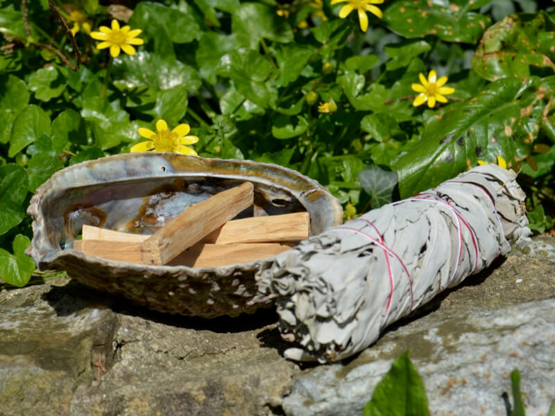Saging with Adela Mei Smudging with white sage